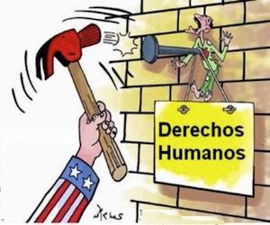 Manejo hipócrita del tema de los derechos humanos.